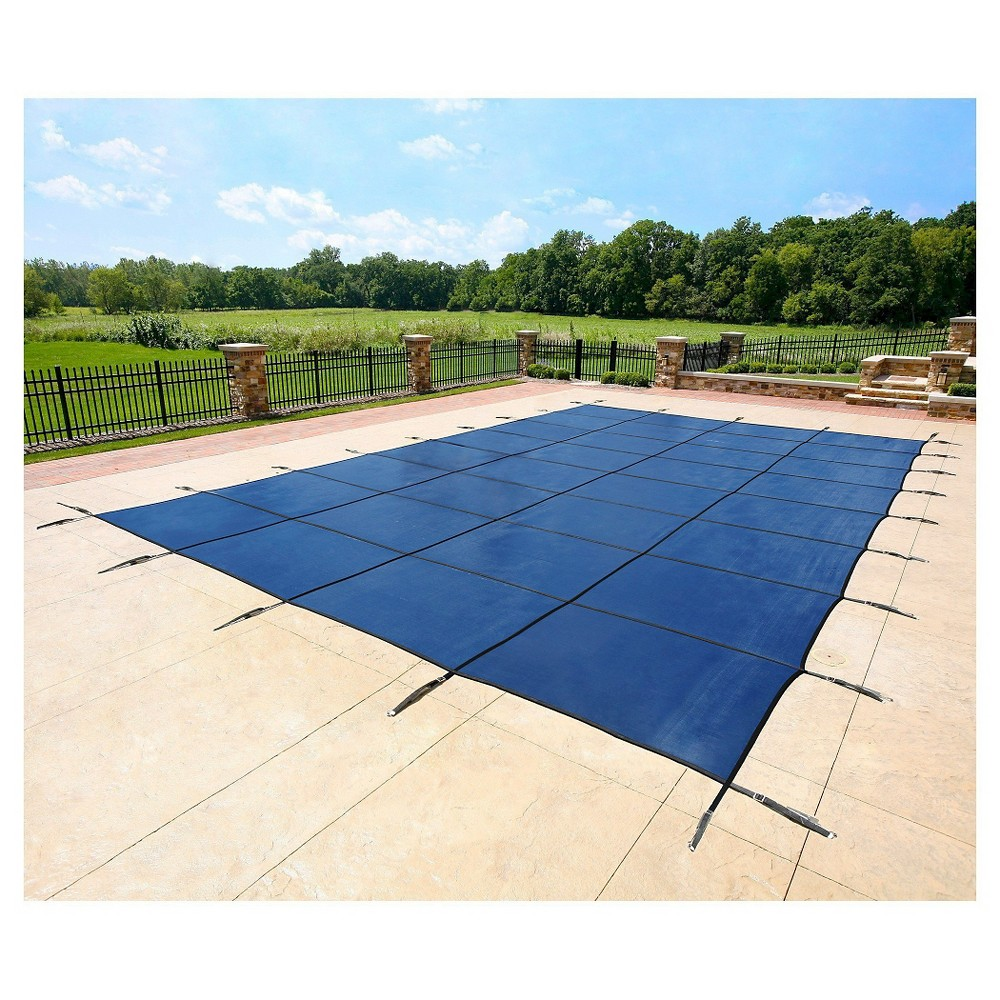 WaterWarden Safety Pool Cover for 30' x 50' In Ground Pool - Blue Mesh