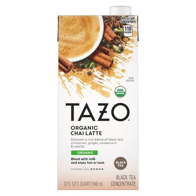 Tazo Organic Tea Latte Chai Black Tea - 32 fl oz