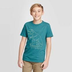 Boys' Short Sleeve Dinosaur Graphic T-Shirt - Cat & Jack™ Blue