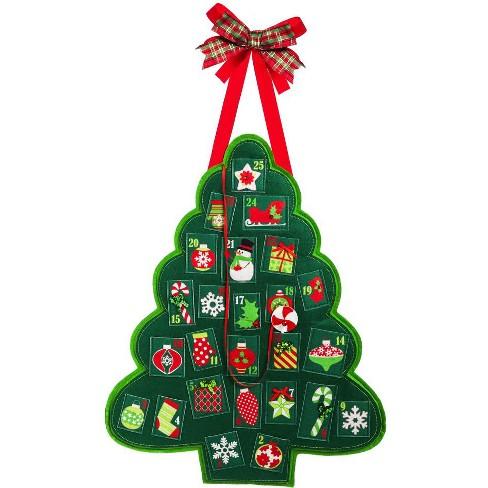 Evergreen Flag Christmas Advent Calendar Outdoor Safe Felt Door Decor - image 1 of 1