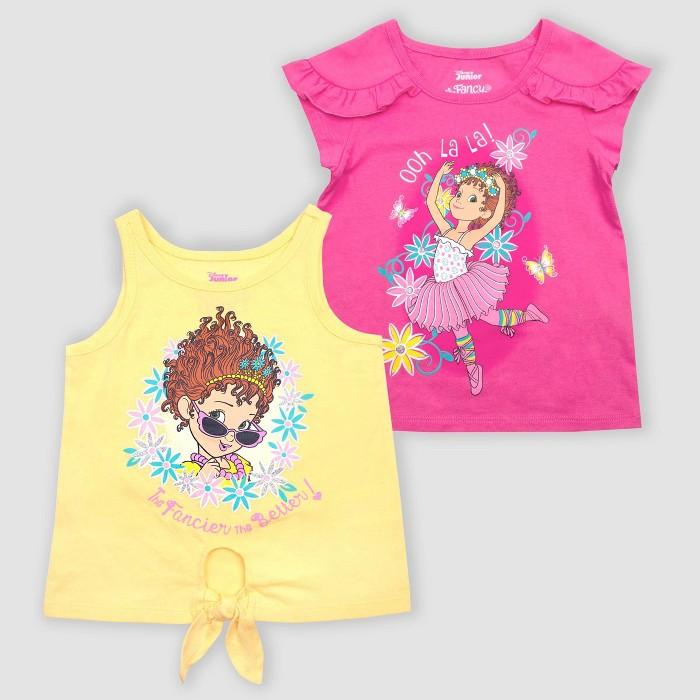 Toddler Girls' Disney Fancy Nancy 2pk Novelty T-Shirts - Pink - image 1 of 1