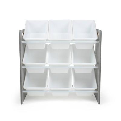 Toy Storage Organizer with Storage Bins Gray - Humble Crew