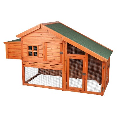 Trixie Pet Chicken Coop with a View - Brown