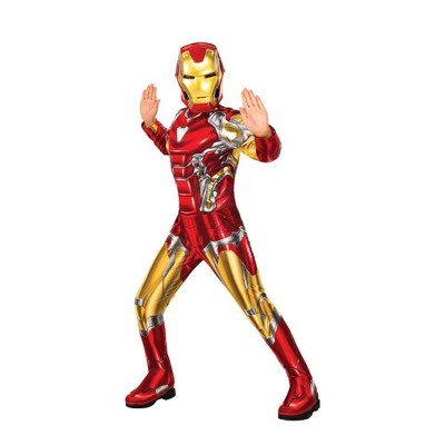 Kids' Marvel Iron Man Halloween Costume Muscle Jumpsuit with Mask