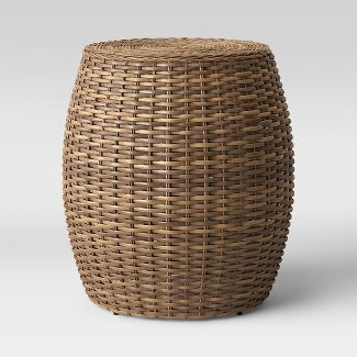 Woven Patio Accent Table - Brown - Threshold™