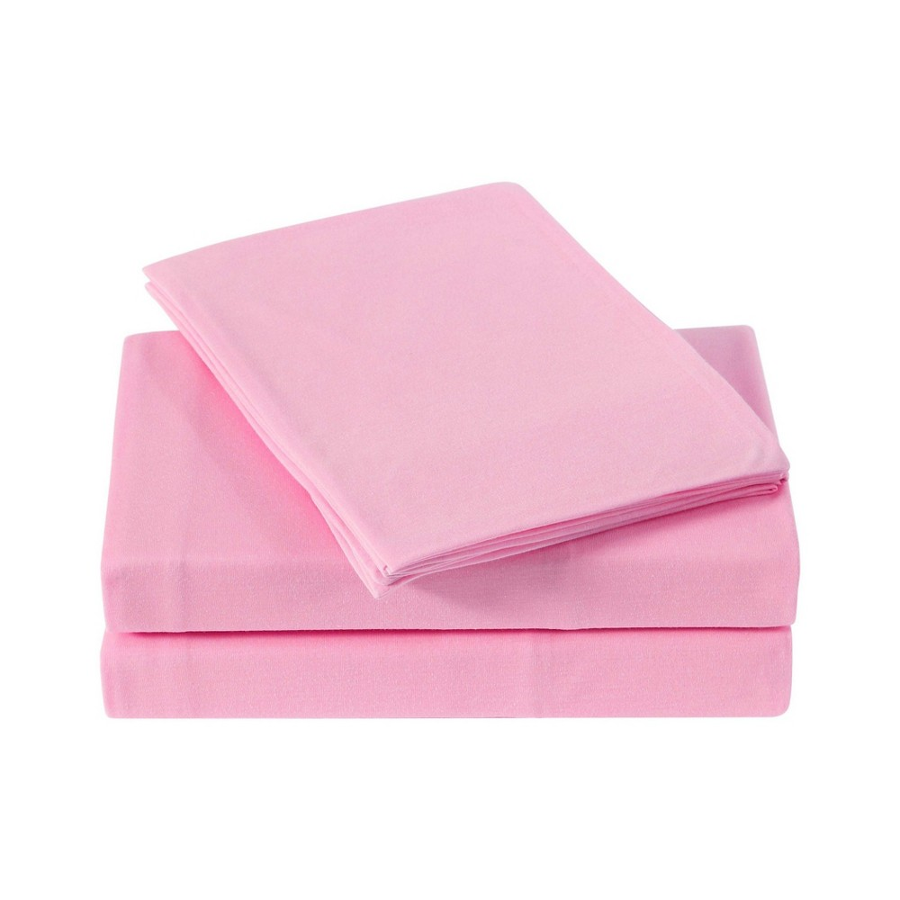 Image of Full Anytime Jersey Sheet Set Pink - My World