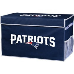 NFL Franklin Sports New England Patriots Collapsible Storage Footlocker Bins