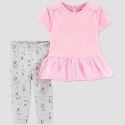 Baby Girls' Bunny Top and Bottom Set - Just One You® made by carter's Pink 3M