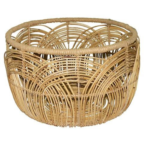 Woven Round Rattan Basket Large - Threshold™ - image 1 of 3