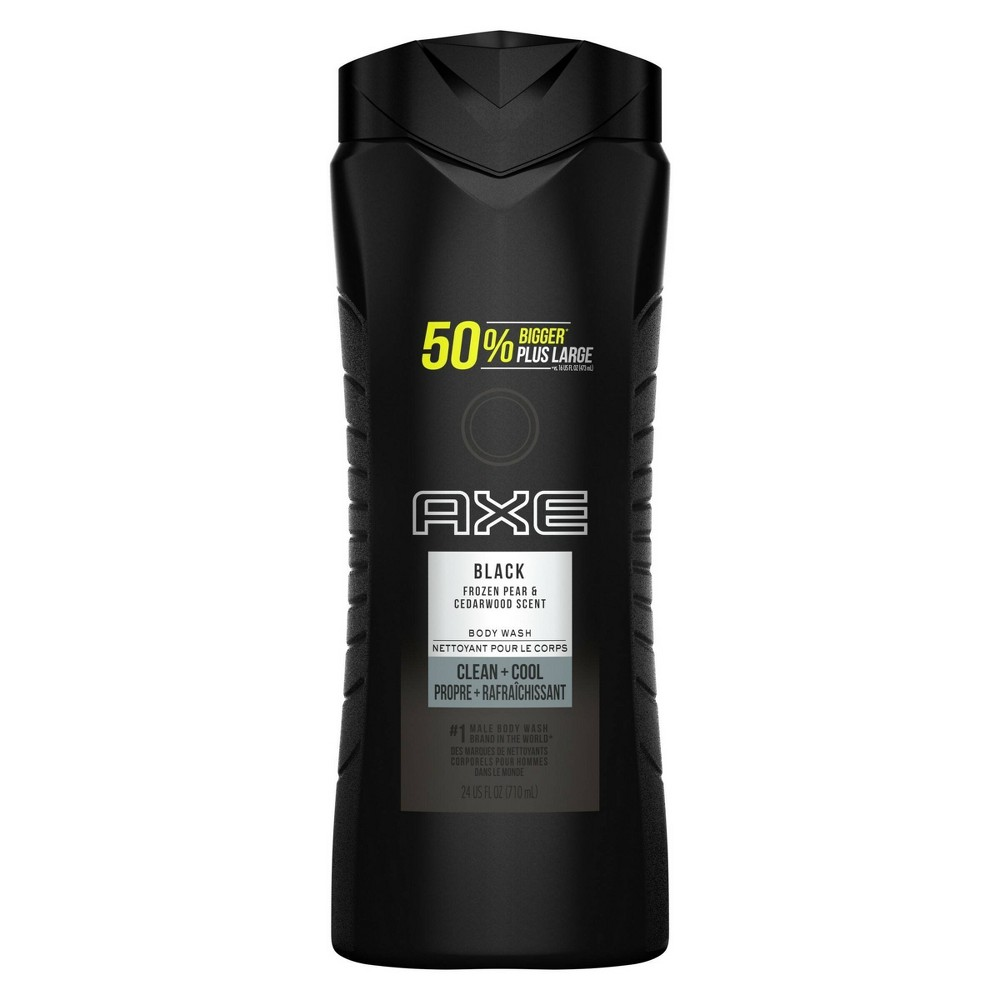Image of AXE Black Fr fl ozen Pear & Cedarwood Scent Clean + Cool Body Wash Soap - 24 fl oz
