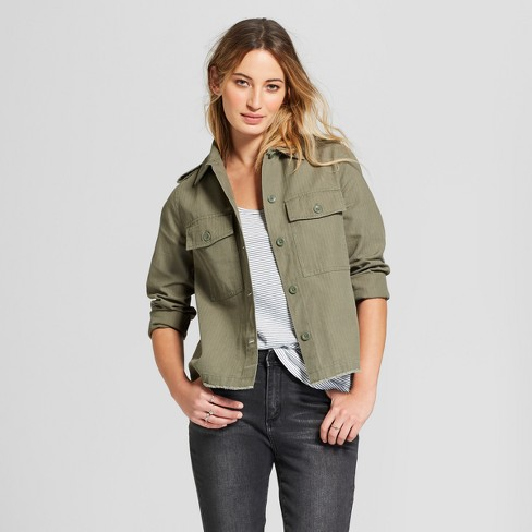Women s Military Jacket - Universal Thread™ Olive   Target 33dae2db0