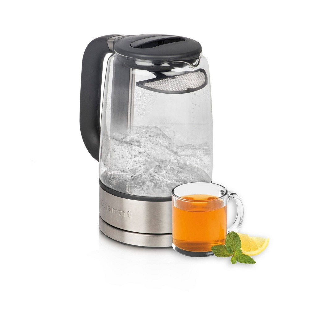 Cuisinart 1 7l Cordless Glass Electric Kettle Stainless Steel Gk 17