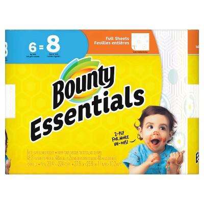 Bounty Basic Full Sheet Paper Towels - 6 Big Rolls