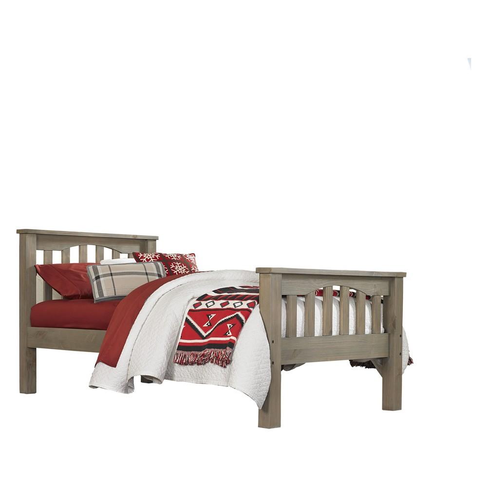Twin Highlands Harper Panel Bed Driftwood (Brown) - Hillsdale Furniture