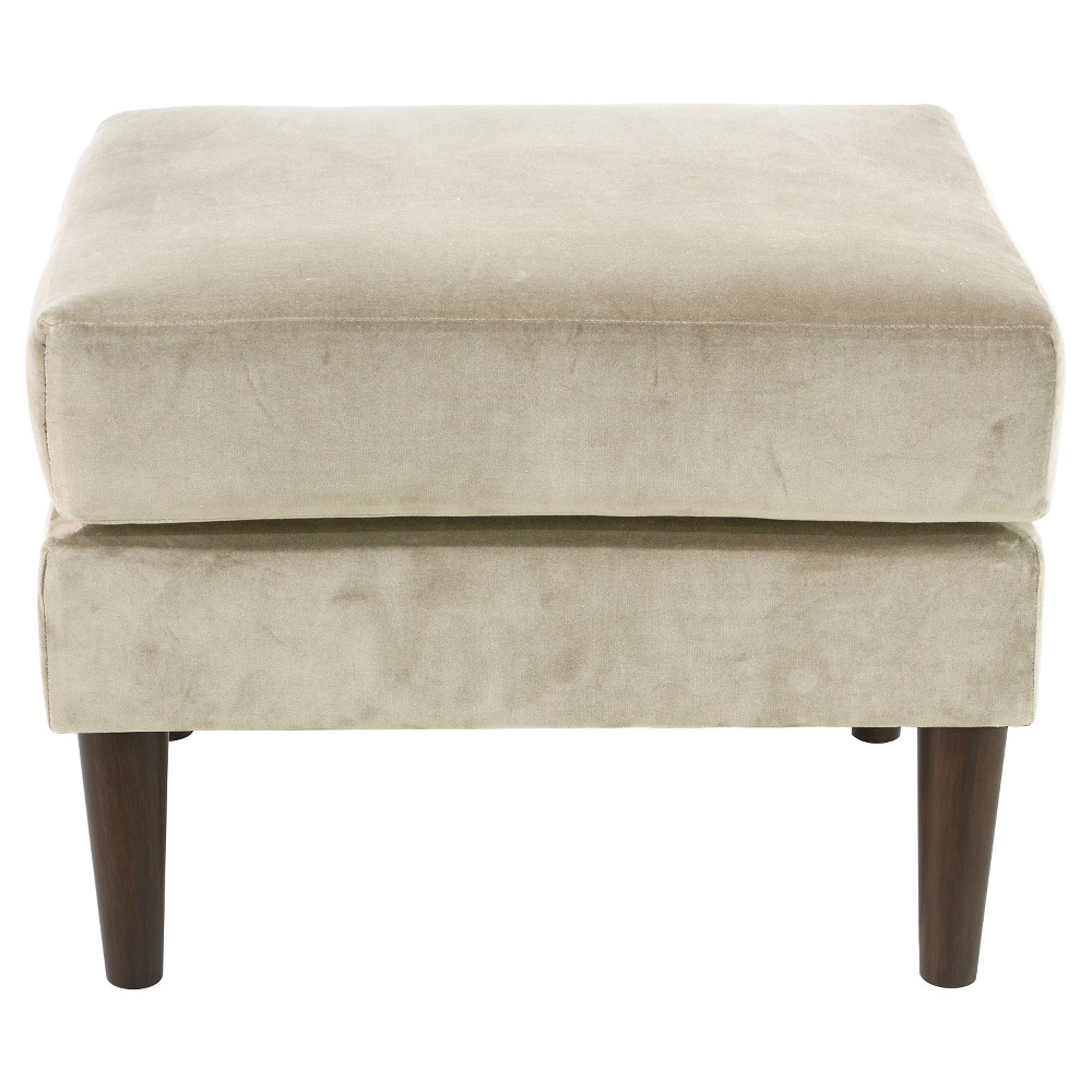Pillowtop Ottoman in Regal Antique White - Skyline Furniture