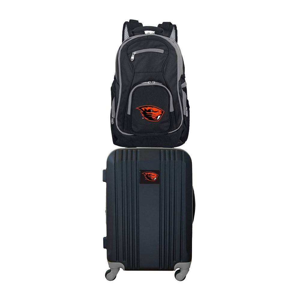 NCAA Oregon State Beavers Premium 2pc Backpack & Carry-On Luggage Set