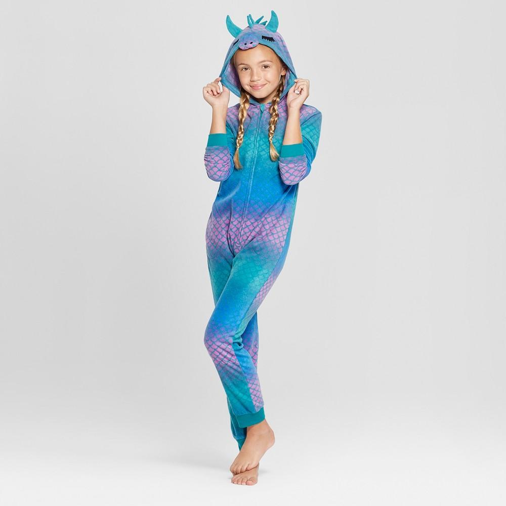 Girls' Halloween Dragon Union Suit - Cat & Jack Purple 5, Blue