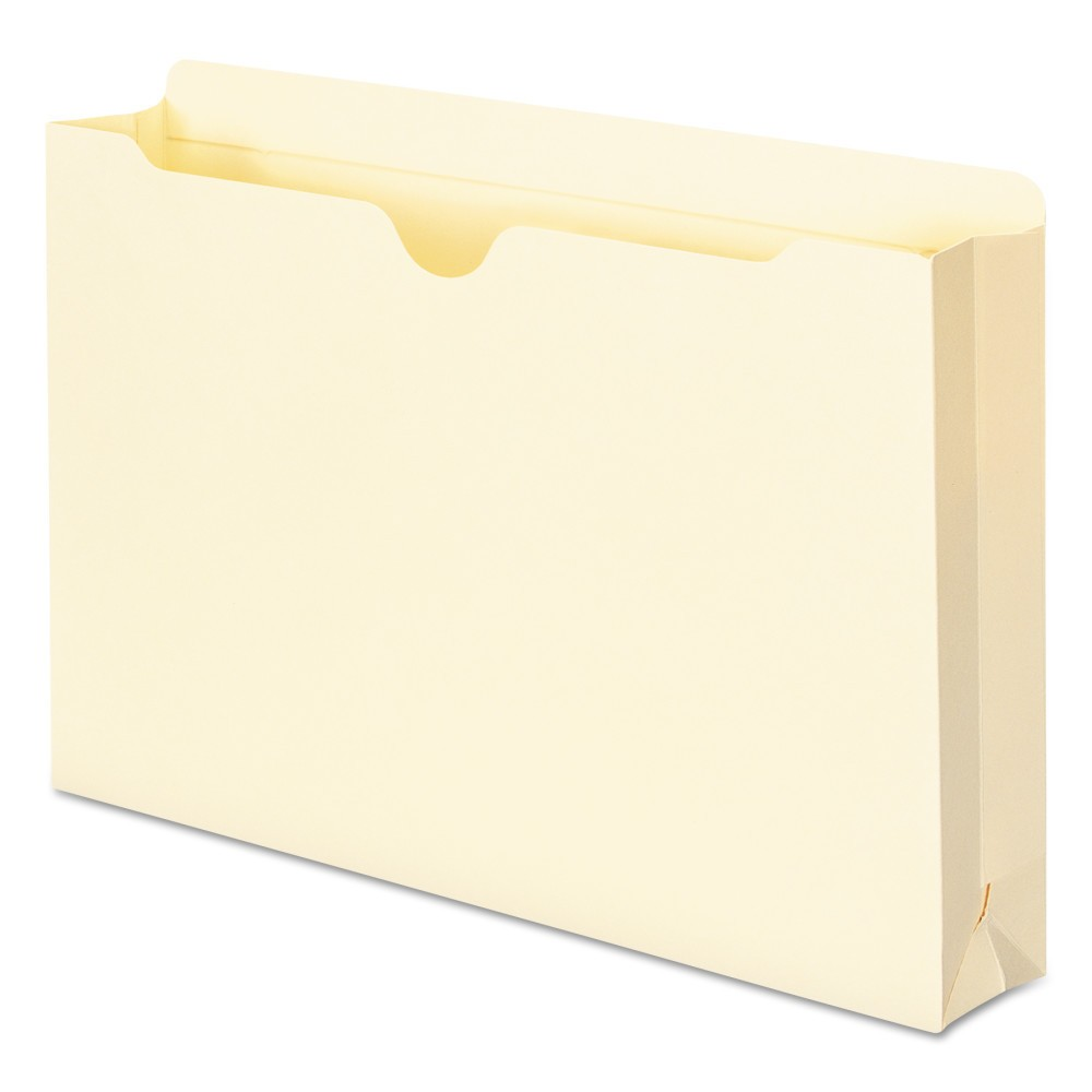 Smead Pocket File Jackets, 2-Ply Top, 2 Accordion Expansion, Legal, 11 Point Manila, 50/Box, Ivory