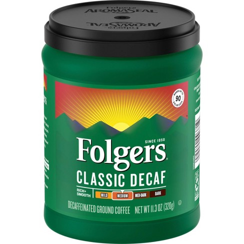 Folgers Classic Medium Roast Ground Coffee - Decaf - 11.3oz - image 1 of 4