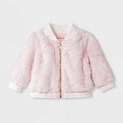 Baby Girls' Faux Fur Jacket - Cat & Jack™ Pink