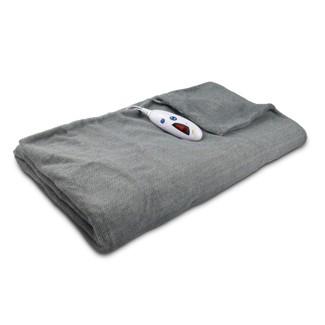 """Microplush Electric Throw (62""""x50"""") Gray Herringbone - Biddeford Blankets"""