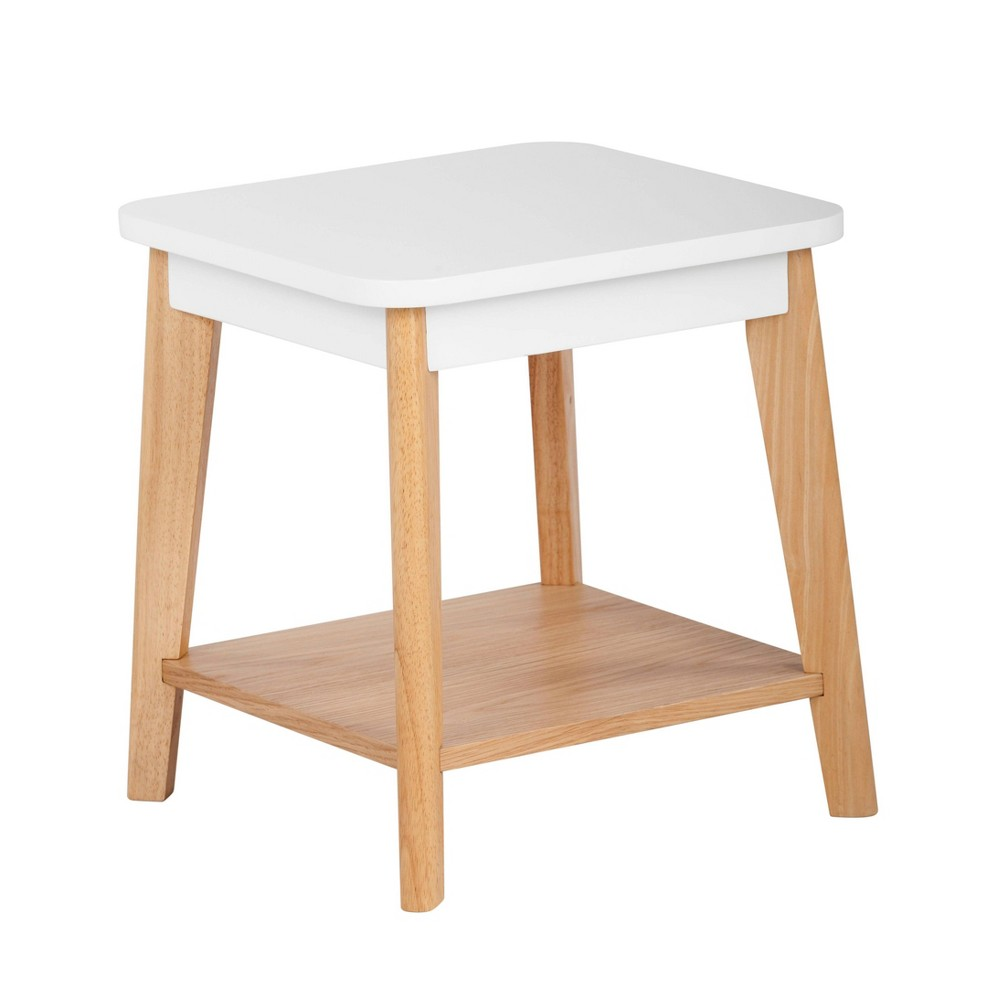 Image of Remus Square Side Table Oak Brown/White - Universal Expert