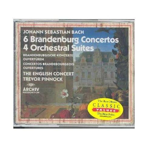 Pinnock - Bach: Brandenburg Concertos 1-6 (CD) - image 1 of 1