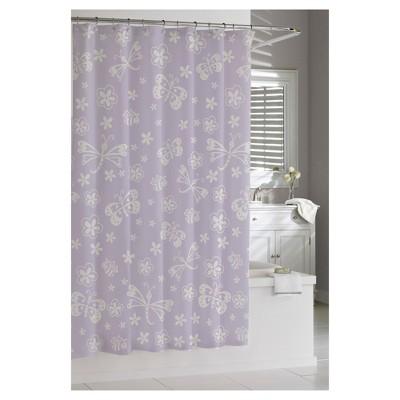 Mariposa Shower Curtain Purple - Cassadecor