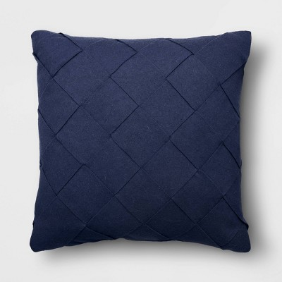 Basket Weave Square Throw Pillow Blue - Project 62™