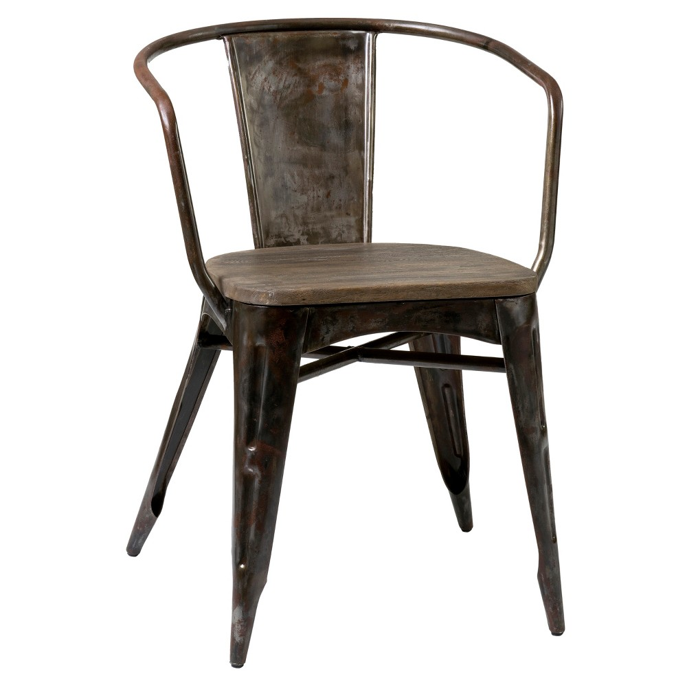 Reva Set of 2 Iron Dining Chair Dark Silver - East At Main