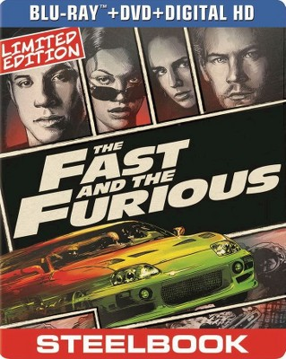 The Fast and the Furious (SteelBook) (Blu-ray + DVD + Digital)