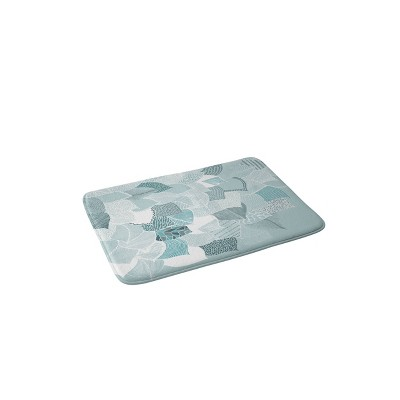 Rosebud Studio Dream Good Memory Foam Bath Mat Light Blue - Deny Designs