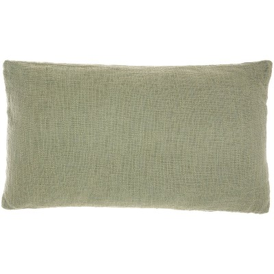 Life Styles Solid Woven Cotton Throw Pillow - Mina Victory