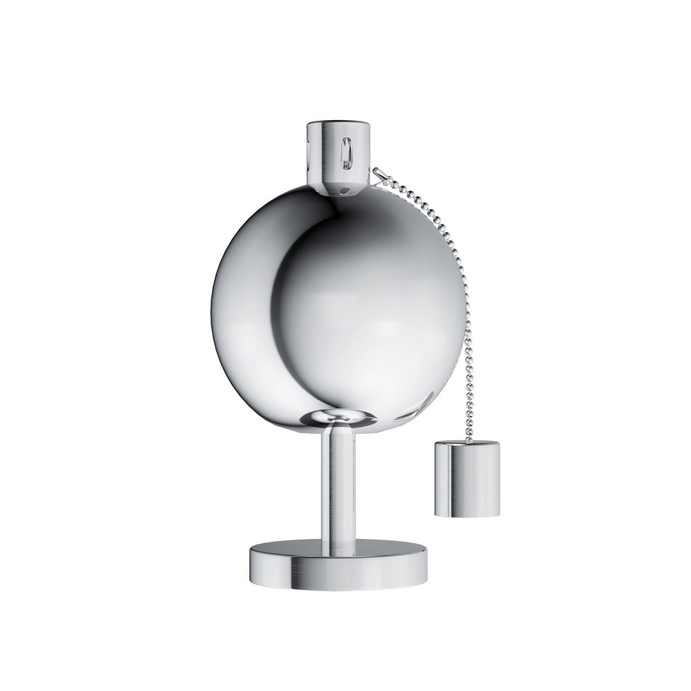"""Image of """"10"""""""" Outdoor LED Tabletop Torch Lamp Stainless Steel - Pure Garden, Silver"""""""