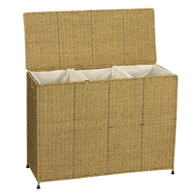 Household Essentials Triple Laundry Sorter - Seagrass