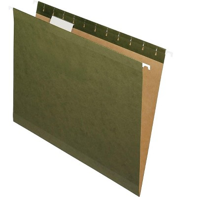 Pendaflex 100% Recycled Hanging File Folders Letter Size Standard Green 464720
