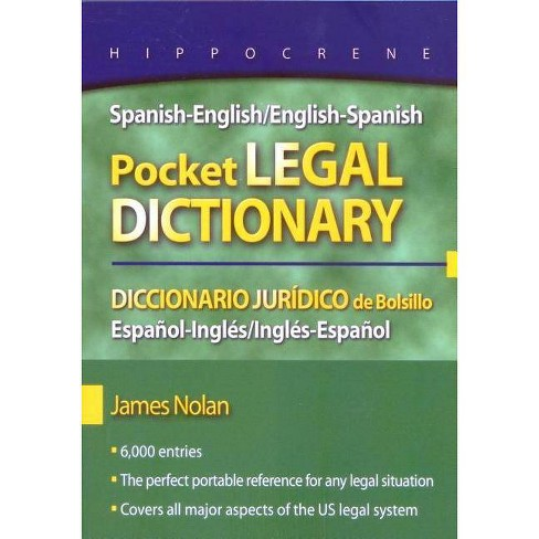 Spanish-English/English-Spanish Pocket Legal Dictionary/Diccionario Juridico de Bolsillo - image 1 of 1