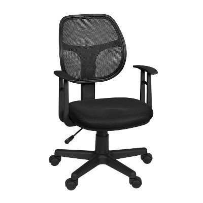 City Swivel Chair with Arms Black - Regency