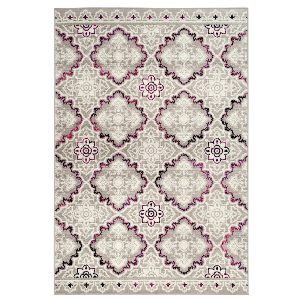 Gray/Pink Medallion Loomed Area Rug 8'X10' - Safavieh, Pink Gray