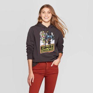 Women's Star Wars: Empire Strikes Back Star Wars Hooded Sweater (Juniors') - Black S