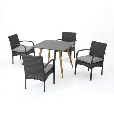 Napa 5pc Wicker Dining Set - Christopher Knight Home - image 1 of 4