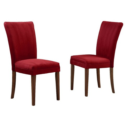 Set of 2 Elizabeth Parson Dining Chairs Cranberry Red - Inspire Q