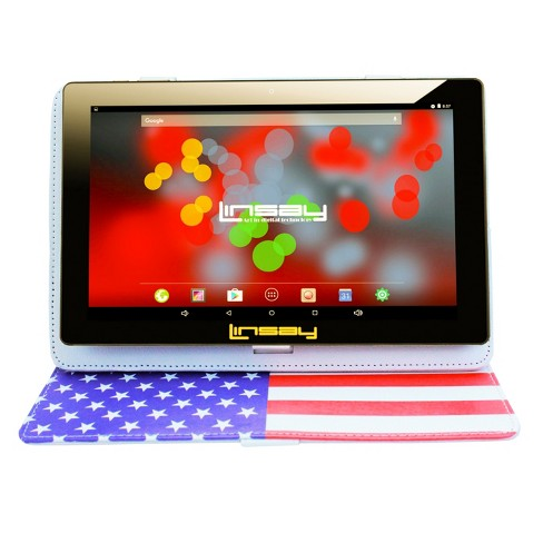 """LINSAY 10.1"""" Tablet Bundle with USA Case 32GB - image 1 of 3"""