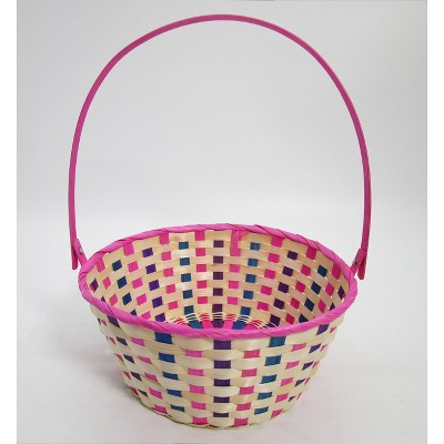 "11"" Bamboo Easter Basket Warm Colorway Pink with Purple Mix - Spritz™"
