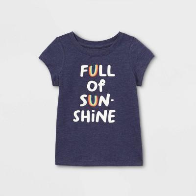 Toddler Girls' 'Full Of Sunshine' Short Sleeve T-Shirt - Cat & Jack™ Navy