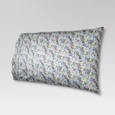 Performance Printed Pillowcase (Standard)Floral Purple 400 Thread Count - Threshold™