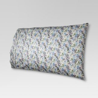 Performance Printed  Pillowcase (Standard) Floral Purple  400 Thread Count - Threshold™
