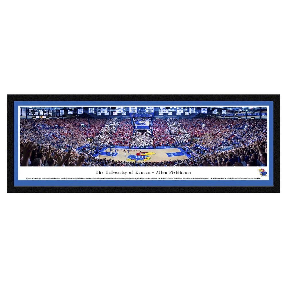 NCAAWisconsin Badgers BlakewayBasketball Arena View Framed Wall Art, Kansas Jayhawks