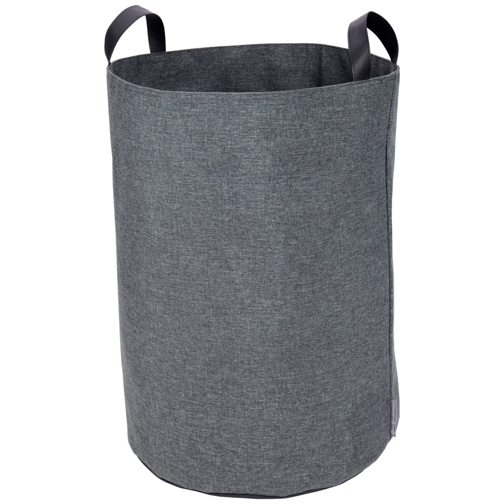 Image of Floor Storage Bin With Handles Gray - Bigso Box of Sweden