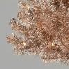 6.5ft Pre-Lit Rose Gold Tinsel Artificial Christmas Tree - Wondershop™ - image 2 of 2